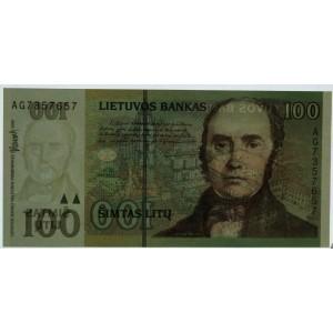 Литва 100 литов 2000 - UNC