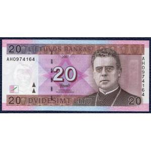 Литва 20 литов 2007 - UNC