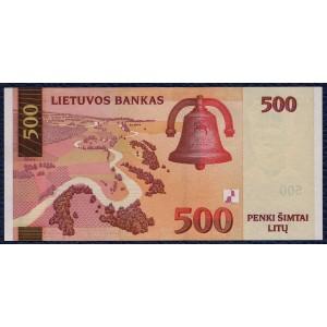 Литва 500 литов 2000 - UNC