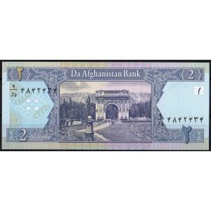 Афганистан 2 афгани 2002 - UNC