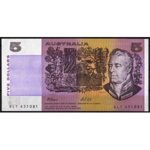 Австралия 5 долларов 1991 - UNC