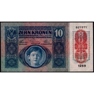 Австрия 10 крон 1919 - XF