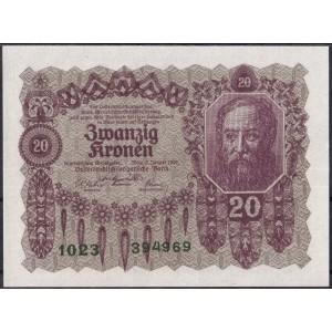 Австрия 20 крон 1922 - UNC