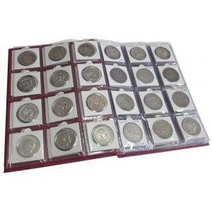 Монетник вертикальный 195х255 мм, с листами под монеты в холдерах на 120 ячеек.