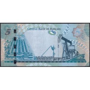 Бахрейн 5 динаров 2006 - UNC