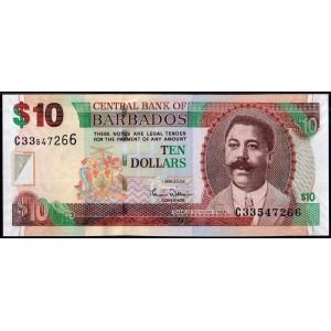 Барбадос 10 долларов 2007 - UNC