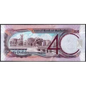 Барбадос 20 долларов 2012 - UNC