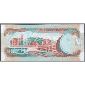 Барбадос 50 долларов 2007 - UNC
