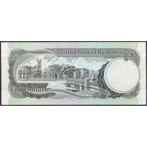 Барбадос 5 долларов 1975 - UNC
