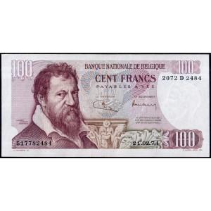 Бельгия 100 франков 1972 - UNC