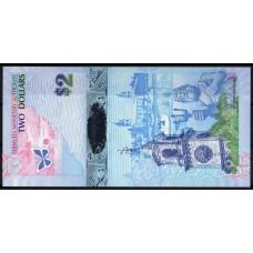 Бермудские острова 2 доллара 2009 - UNC
