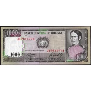 Боливия 1000 песо 1982 - UNC