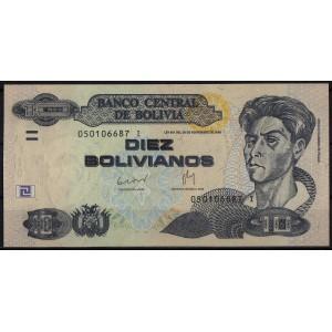 Боливия 10 боливианов 1986 - UNC