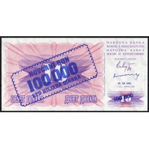 Босния и Герцеговина 100000 динар 1993 - UNC
