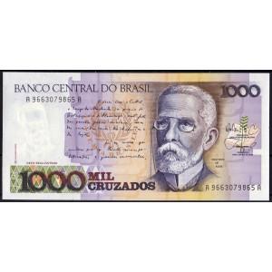Бразилия 1000 крузадо 1986 - UNC