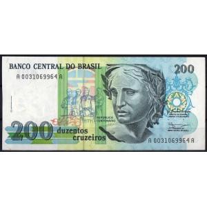 Бразилия 200 крузейро 1989 - UNC