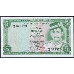 Бруней 5 долларов 1986 - UNC