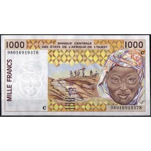 Буркина-Фасо 1000 франков 2001 - UNC