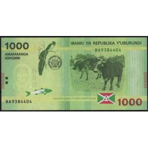 Бурунди 1000 франков 2015 - UNC