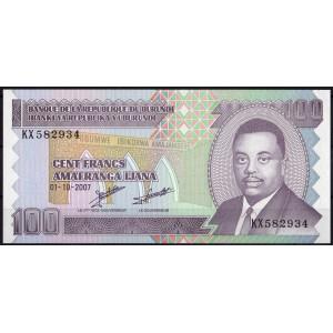 Бурунди 100 франков 2007 - UNC