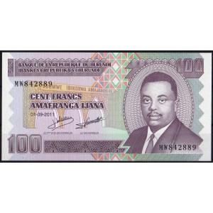 Бурунди 100 франков 2011 - UNC