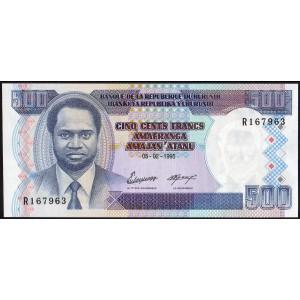 Бурунди 500 франков 1995 - UNC