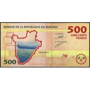 Бурунди 500 франков 2015 - UNC