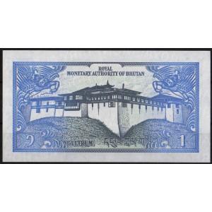 Бутан 1 нгултрум 1986 - UNC
