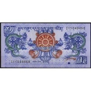 Бутан 1 нгултрум 2006 - UNC