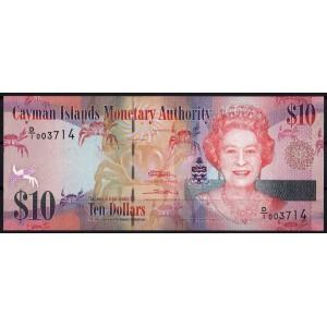 Каймановы острова 10 долларов 2010 - UNC