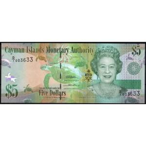 Каймановы острова 5 долларов 2010 - UNC