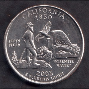 США 1/4 доллара 2005 (California) - XF