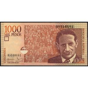 Колумбия 1000 песо 2011 - UNC