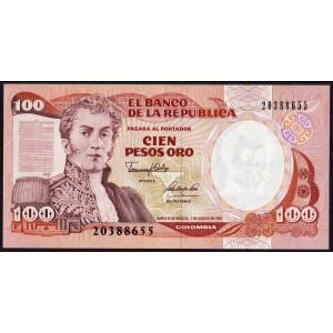 Колумбия 100 песо 1991 - UNC
