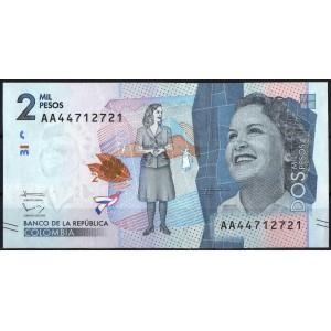 Колумбия 2000 песо 2015 - UNC