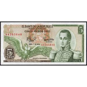 Колумбия 5 песо 1979 - UNC