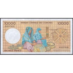 Коморские острова 10000 франков 1997 - UNC