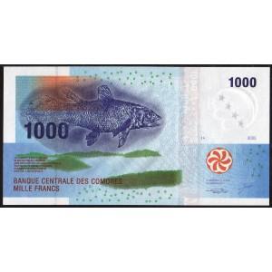 Коморские острова 1000 франков 2005 - UNC