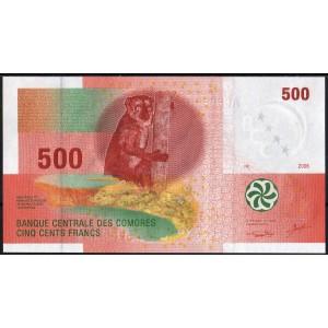 Коморские острова 500 франков 2006 - UNC