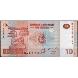 ДР Конго 10 франков 2003 - UNC