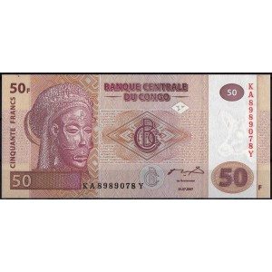 ДР Конго 50 франков 2007 - UNC