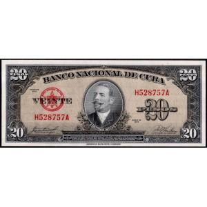 Куба 20 песо 1958 - UNC