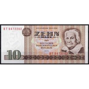 ГДР 10 марок 1971 - UNC