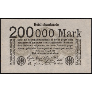Германия 200 000 марок 1923 - UNC
