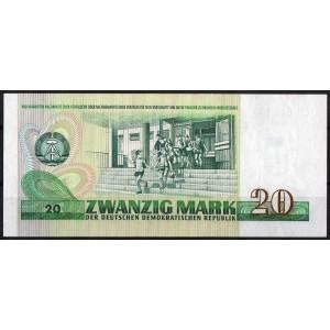 ГДР 20 марок 1975 - UNC