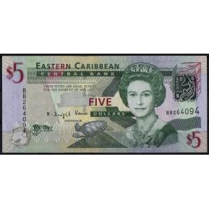 Восточно-Карибские острова 5 долларов 2008 - UNC