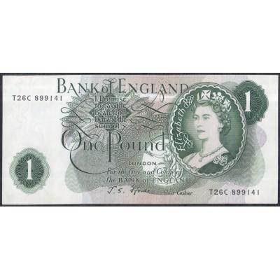 Англия 1 фунт 1966 - UNC