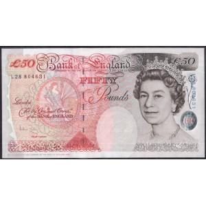 Англия 50 фунтов 2006 - UNC