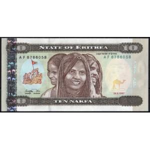 Эритрея 10 накфа 1997 - UNC