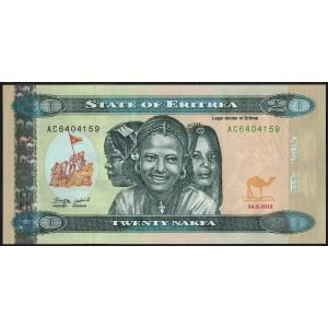 Эритрея 20 накфа 2012 - UNC